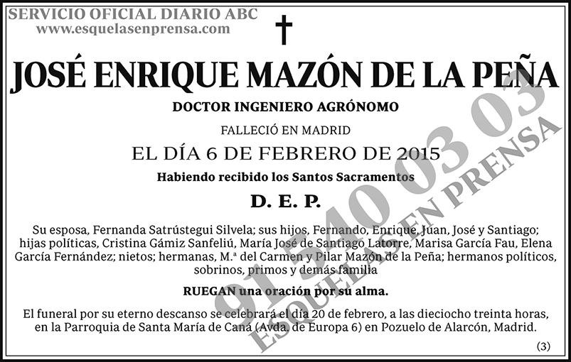 José Enrique Mazón de la Peña